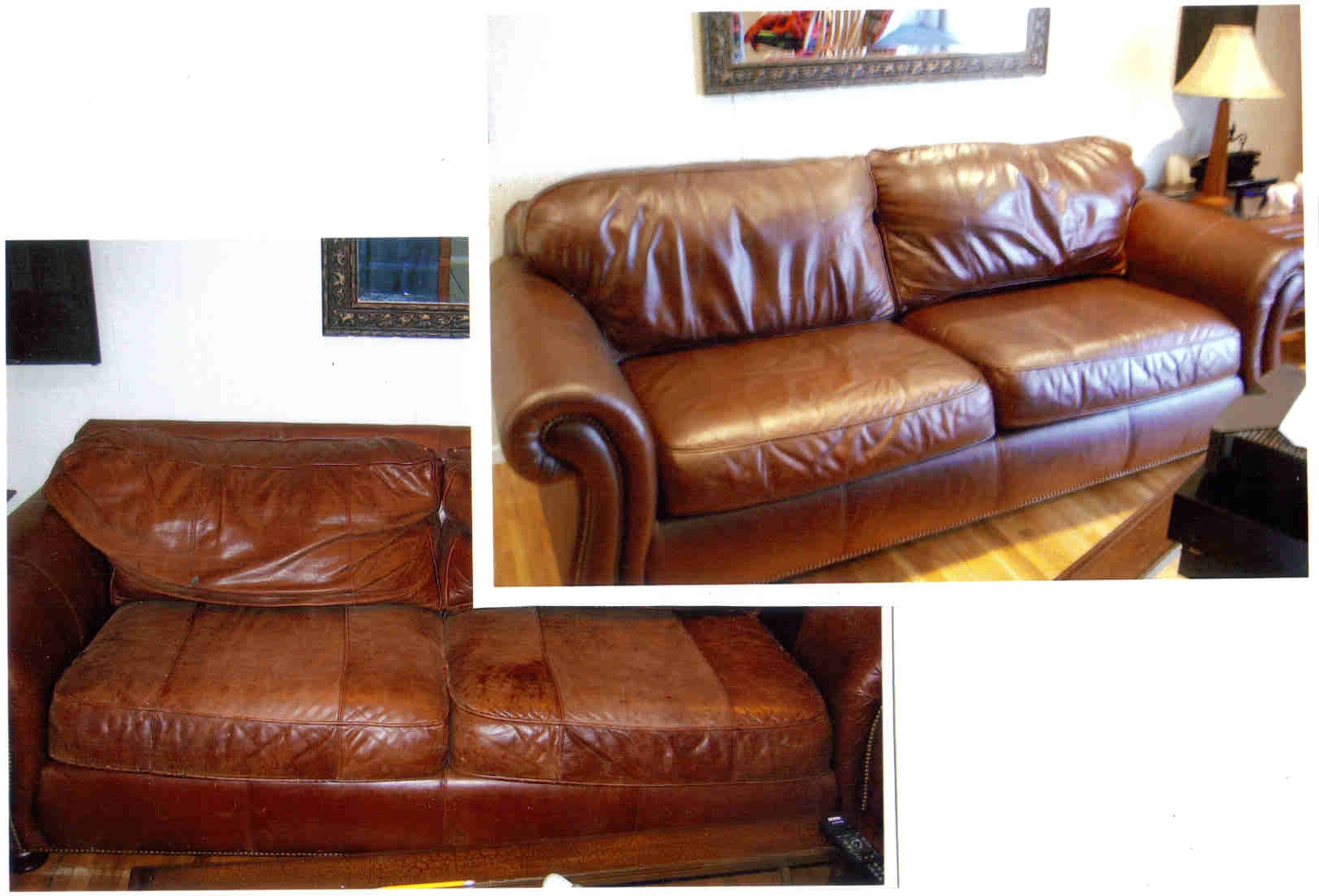 Before and After Leather Repair & Restoration
